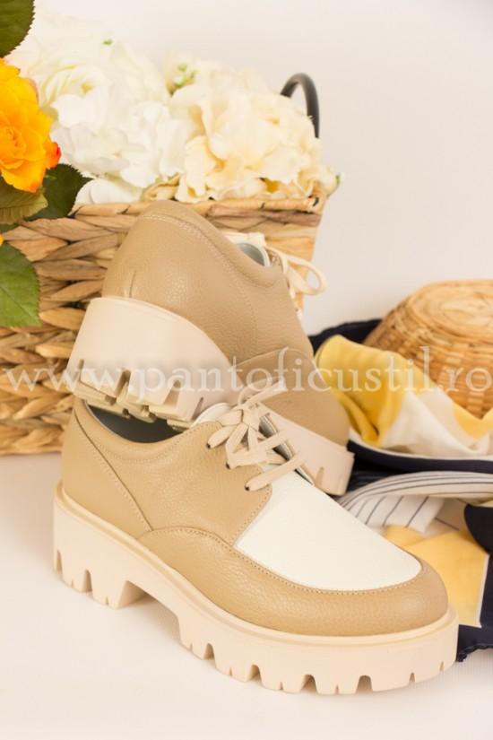 Pantofi dama de tip Oxford din piele naturala