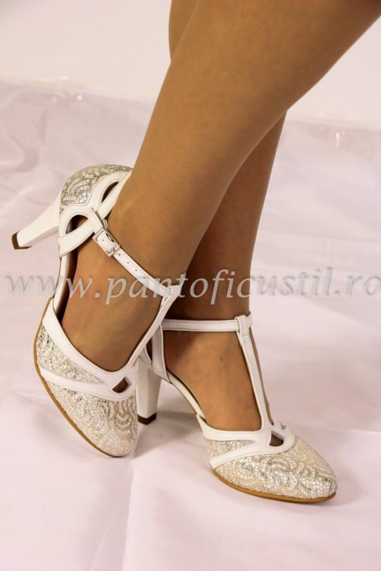 Pantofi de mireasa piele