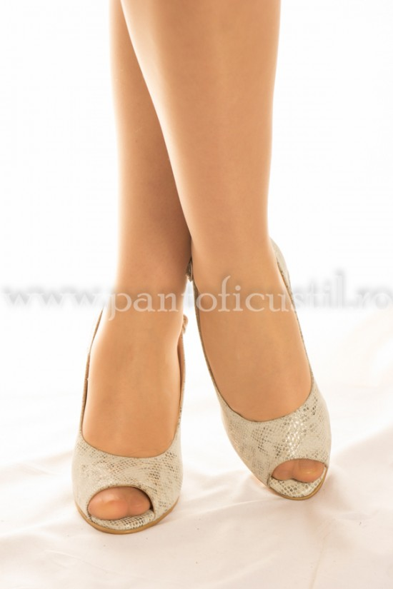 Sandale din piele  Animal Print