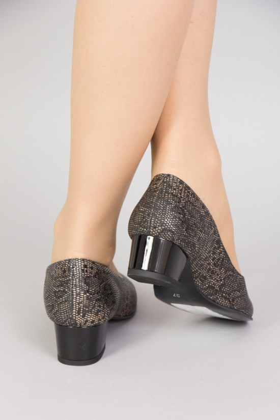 Pantofi cu talpa joasa din piele maro