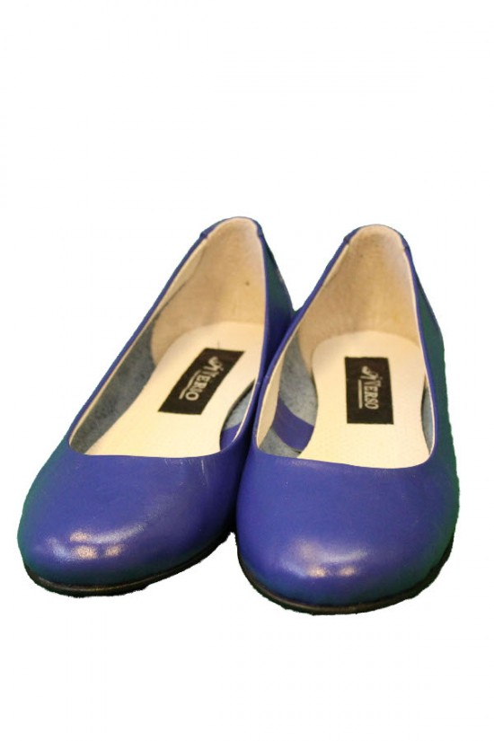 Balerini din piele albastra