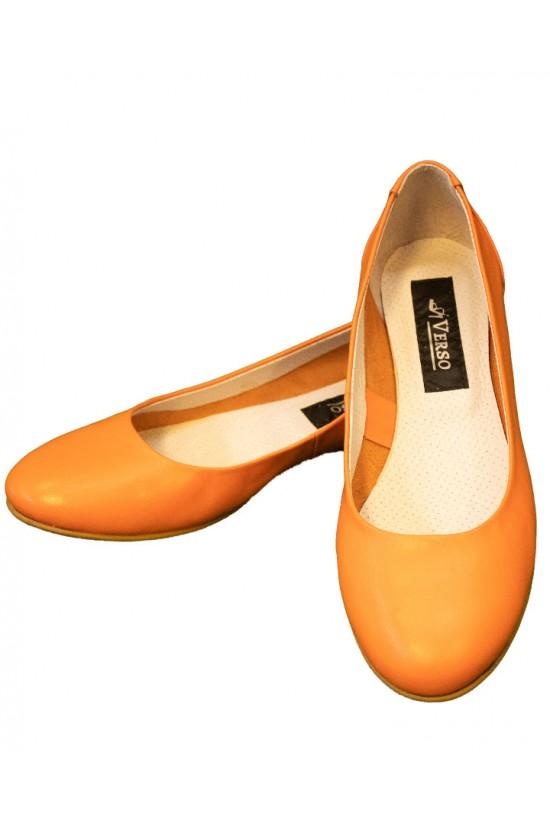balerini din piele portocalie