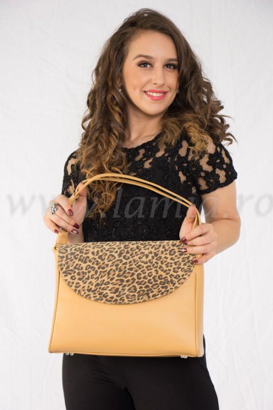 Geanta eleganta din piele leopard Izabela