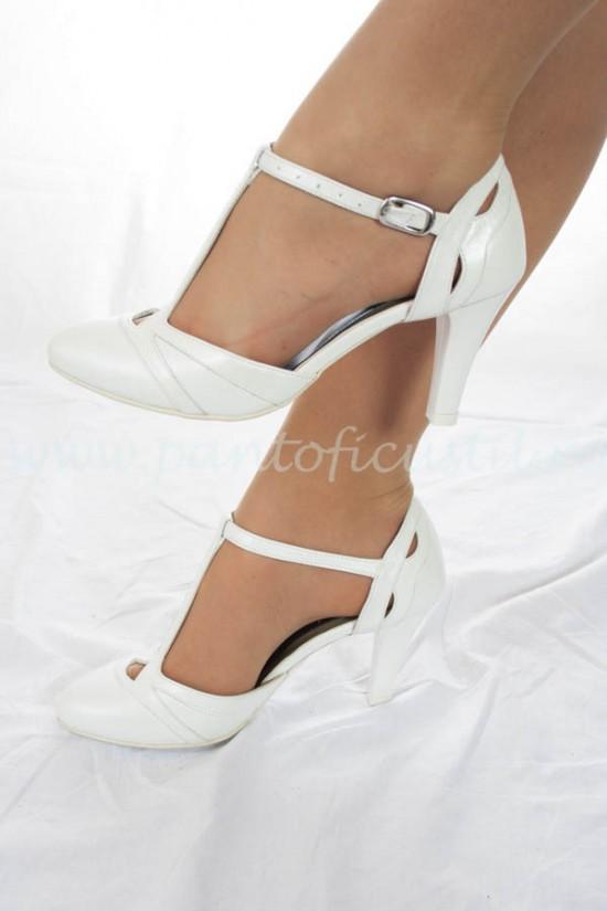 Pantofi de mireasa din piele